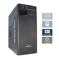 POWERTECH PC PC2-200GE, Athlon 200GE, DDR4 4GB, 1TB, DVD-RW