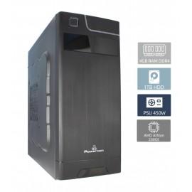 POWERTECH PC PC2-200GE, Athlon 200GE, DDR4 4GB, 1TB, DVD-RW