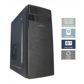 POWERTECH Έτοιμο PC, Intel Celeron G3900, 4GB RAM, 500GB HDD, DVD-RW