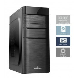 POWERTECH Έτοιμο PC, i3-7100, 4GB RAM, 1TB HDD, DVD-RW