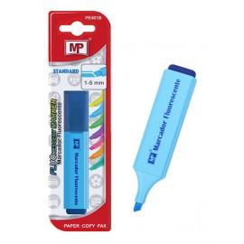 MP μαρκαδόρος υπογράμμισης PE401B, 1-5m, μπλε φωσφοριζέ, 1τμχ