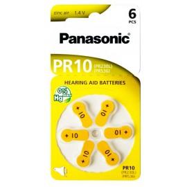 PANASONIC μπαταρίες ακουστικών βαρηκοΐας PR10, mercury free, 1.4V, 6τμχ