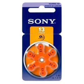 SONY μπαταρίες ακουστικών βαρηκοΐας PR13, mercury free, 1.4V, 6τμχ