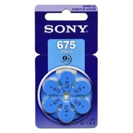 SONY μπαταρίες ακουστικών βαρηκοΐας PR675, mercury free, 1.4V, 6τμχ