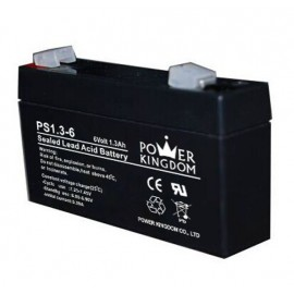 POWER KINGDOM μπαταρία μολύβδου PS1.3-6, 6V 1.3Ah