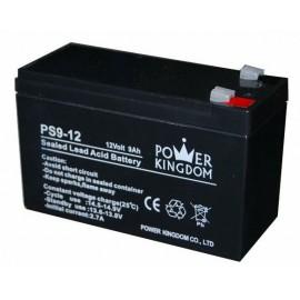 POWER KINGDOM μπαταρία μολύβδου PS9-12, 12Volt 9Ah