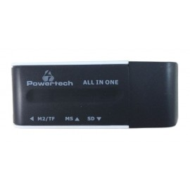 POWERTECH Mini Card Reader, Black