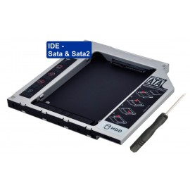 HDD Caddy IDE / Sata & Sata2 2.5inch - 12,7mm