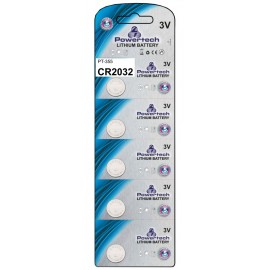 POWERTECH Μπαταρία λιθίου CR2032, 3V, 5τμχ