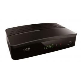 POWERTECH ψηφιακός δέκτης MPEG4, DVB-T2, SCART & HDMI, προγρ. control