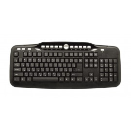 POWERTECH Keyboard PT-375, ενσύρματο, Multimedia, Αγγλικά-Ρώσικα