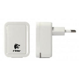 ROAR Φορτιστής PT-495, 2x USB, 2.1A, λευκός