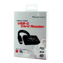 PT Card Reader USB Type-C, SD, Micro SD, USB, Black