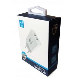 ROAR Φορτιστής PT-498, 2x USB, 2.4A, White