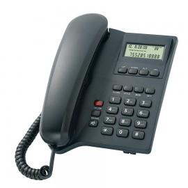 POWERTECH Σταθερό ενσύρματο τηλέφωνο ELLY, LCD, Black