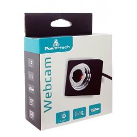 POWERTECH Web Camera PT-507 0.3MP, USB Video & Sound, με κλιπ, Black