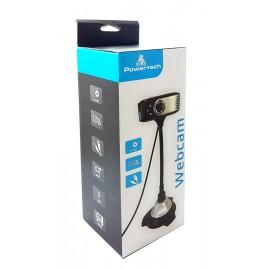 POWERTECH Web Camera 0.3MP, 30fps, Plug & Play, 1.1m, Black