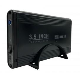 "POWERTECH Εξωτερική θήκη για HDD 3.5"" με βάση, USB 3.0, up to 4TB, Μαύρη"
