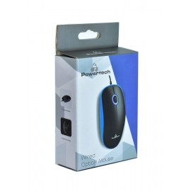 POWERTECH Ενσύρματο ποντίκι, Οπτικό, 1000DPI, USB, μπλε
