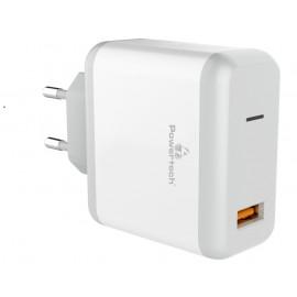 POWERTECH Φορτιστής Τοίχου PT-709, 1x USB, 18W, 3A, QC 3.0, λευκό