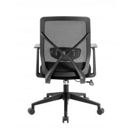 POWERTECH Καρέκλα γραφείου PT-730, ρυθμιζόμενη, με υποβραχιόνια, μαύρη