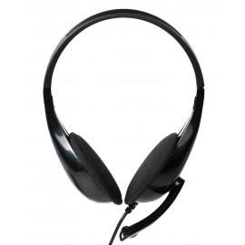 POWERTECH Headphones με μικρόφωνο PT-734 105dB, 40mm, 3.5mm, 1.8m, μαύρο