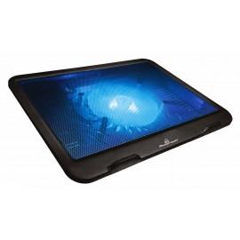 """POWERTECH Βάση & ψύξη laptop PT-740 έως 15.6"""", 125mm fan, LED, μαύρο"""