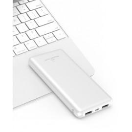 POWERTECH Power Bank PT-804 10000mAh, 2x USB Output, 2.1A, λευκό