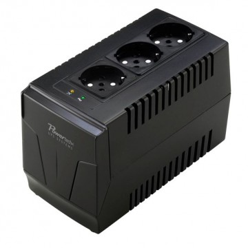 POWERTECH σταθεροποιητής ρεύματος PT-AVR-1500, 1500VA, 3x έξοδοι πρίζας