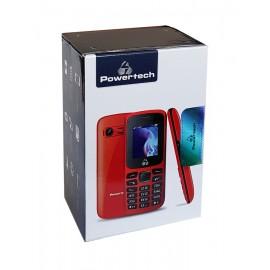 POWERTECH Κινητό Τηλέφωνο PTM-06, Dual Sim, Multimedia, με φακό, κόκκινο
