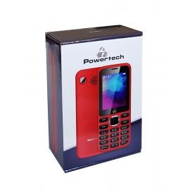 POWERTECH Κινητό Τηλέφωνο PTM-08, Dual Sim, Multimedia, 2800mAh, κόκκινο