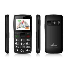POWERTECH Κινητό Τηλέφωνο Sentry GPS, SOS Call, Dual Sim, με φακό, μαύρο