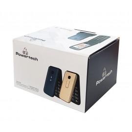 POWERTECH Κινητό Τηλέφωνο Sentry II, SOS Call, Dual Sim, με φακό, Blue