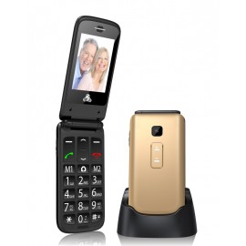 POWERTECH Κινητό Τηλέφωνο Sentry II, SOS Call, Dual Sim, με φακό, Gold