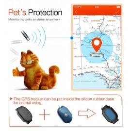Mini GPS Eντοπισμού Θέσης Q60, 400mAh, Αδιάβροχο, Blue