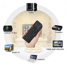 RIITEK Ασύρματο πληκτρολόγιο mini X1 με touchpad, 2.4GHz, μαύρο