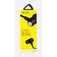 CELEBRAT ακουστικά handsfree με μικρόφωνο S70, μαύρα