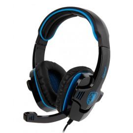 SADES Gaming Headset Gpower με 40mm πανίσχυρα ακουστικά, Blue