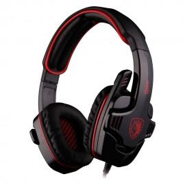 SADES Gaming Headset Gpower με 40mm πανίσχυρα ακουστικά, Red