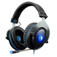 SADES gaming headset SA-R12PRO, USB, 50mm, 7.1CH, LED, μαύρο