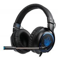 SADES gaming headset SA-R6, USB, 50mm, 7.1CH, LED, μαύρο