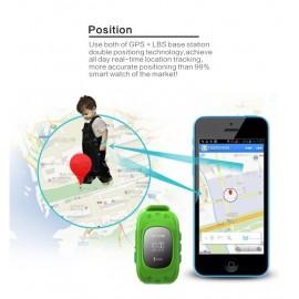 GPS Παιδικό ρολόι χειρός GW300, SOS-Βηματομετρητής, πράσινο
