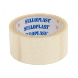 SELLOPLAST Αυτοκόλλητη ταινία SEL-005, διάφανη, 48mm, 60m, 6τμχ