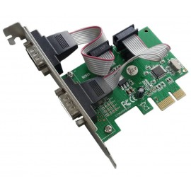 POWERTECH Κάρτα Επέκτασης PCI-e to 2x Serial (RS232), Chipset WHC382