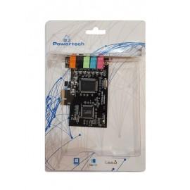 POWERTECH Κάρτα Επέκτασης PCI-e to 6 channel Audio, Chipset CM8738