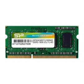 SILICON POWER Μνήμη DDR3 SODimm, 4GB, 1600MHz, PC3-12800, CL11