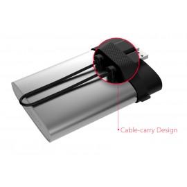 SILICON POWER εξωτερικός HDD 1TB Armor A85, USB 3.1, ασημί