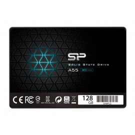 "SILICON POWER SSD A55 128GB, 2.5"", SATA III, 560-530MB/s 7mm, TLC"