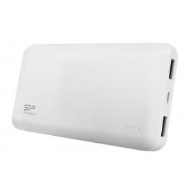 SILICON POWER Power Bank S50 5000mAh, 2x USB Output, White