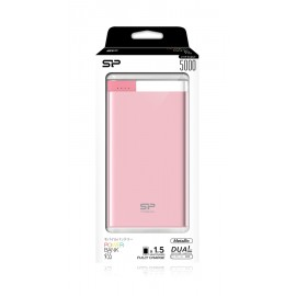 SILICON POWER Power Bank S55 5000mAh, USB, Micro/Lightning Input, Pink